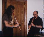 Mark ThunderWolf with Ian Anderson (Jethro Tull)