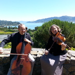Skyline String Duo overlooking Golden Gate Bridge