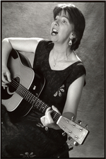 Debra Cowan B/W with Guitar